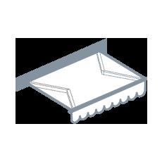 Terrasscherm: semi-cassette